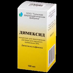 Димексид: лечение шпор