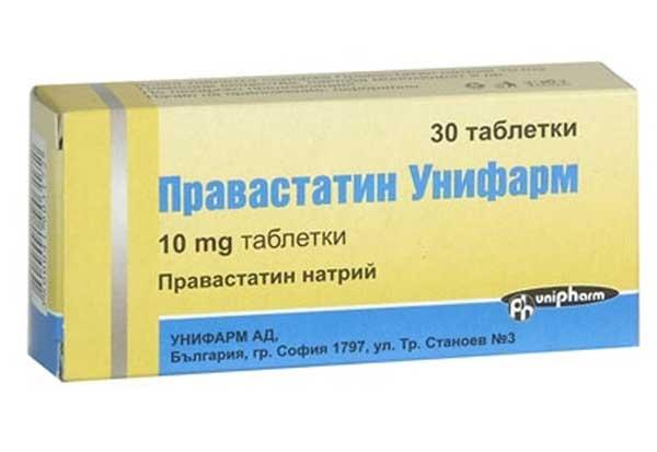 Правастатин: инструкция по применению таблеток