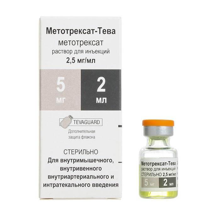 Метотрексат-Тева: инструкция по применению раствора