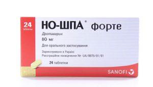 Но-шпа Форте: инструкция по применению таблеток