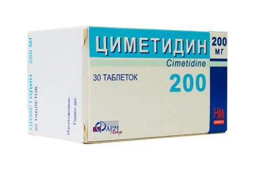 Циметидин: инструкция по применению таблеток