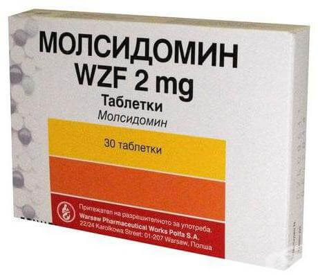 Молсидомин: инструкция по применению таблеток