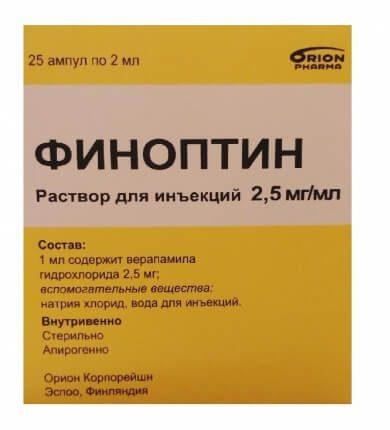 Финоптин: инструкция по применению таблеток