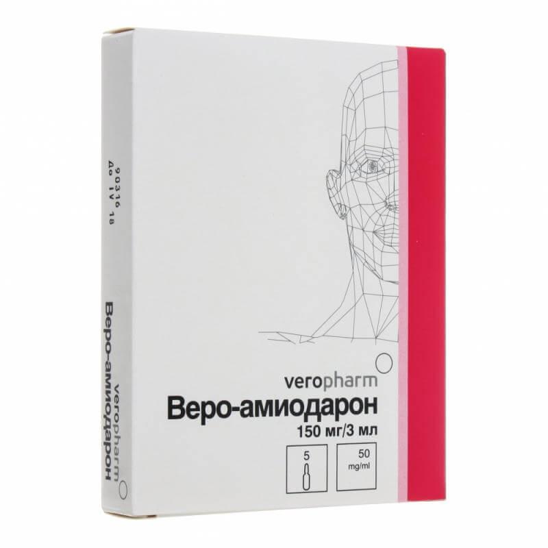 Веро-Амиодарон: инструкция по применению раствора