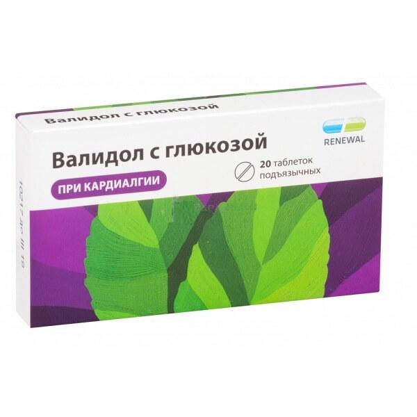 Валидол с глюкозой: инструкция по применению таблеток