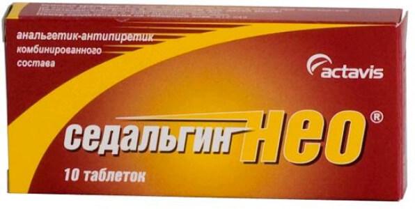 Седальгин-Нео: инструкция по применению таблеток