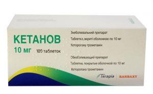 Применение Кетанова от зубной боли