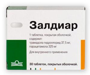 Залдиар: инструкция по применению таблеток