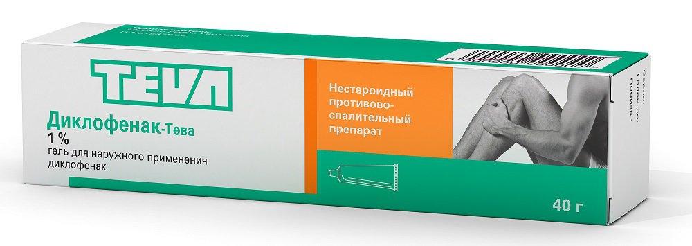 Диклофенак-Тева: инструкция по применению геля
